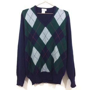 Saks Fifth Avenue Wool Pullover Sweater Men's Sz L